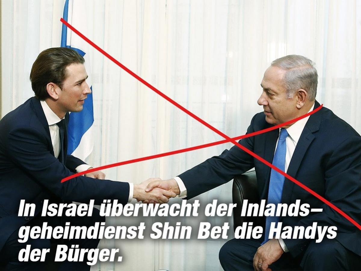 Schluss mit der österreichischen Unterordnung unter US-israelische Interessen!